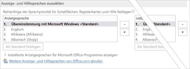 Office 2016 – Festlegen der bevorzugten Sprache