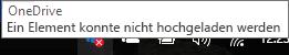 OneDrive kann das rote Kreuzsymbol nicht hochladen