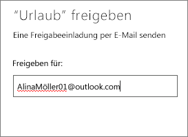Vollständige E-Mail-Adresse eingeben