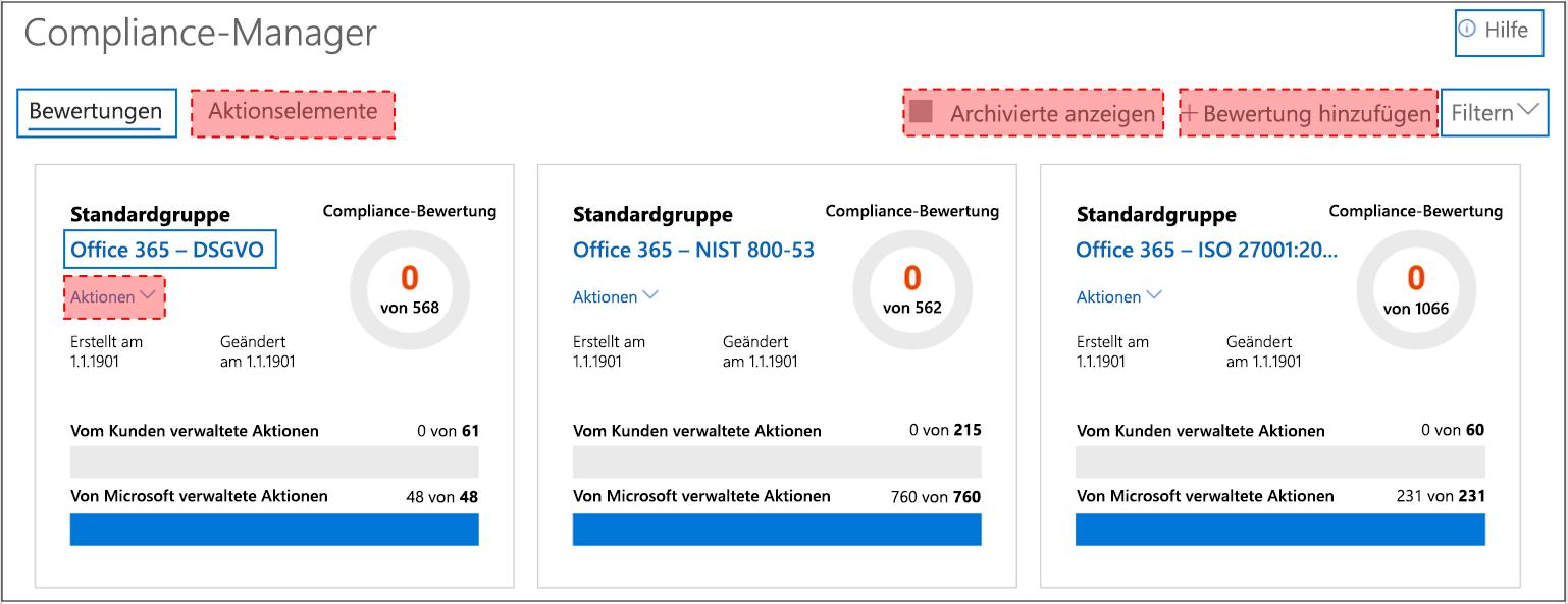 Compliance-Manager-Dashboard – Benutzeroberfläche für Gastzugriff
