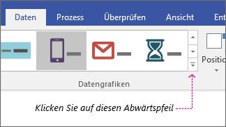 "Registerkarte ""Daten"", Schaltfläche ""Datengrafikkatalog"""