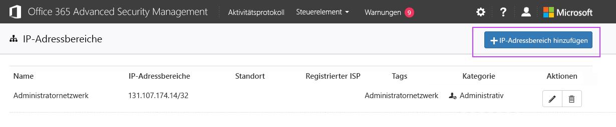 IP-Adressbereiche
