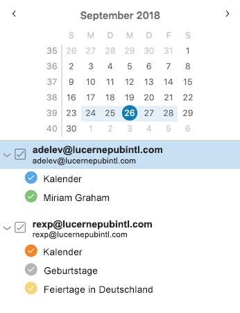 Verbesserte Kalender-Randleiste