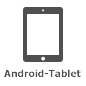 Symbol für Android-Tablet