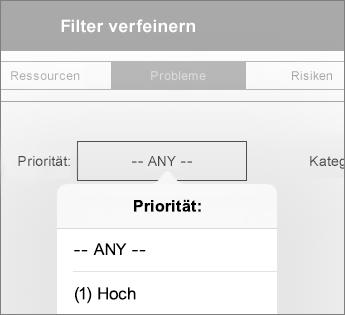 Festlegen von Filtern für ein Dashboard
