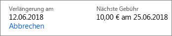 Link zum Kündigen eines Office 365 Home-Abonnements.