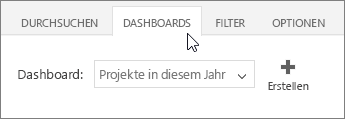 "Registerkarte ""Dashboards"""