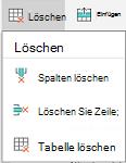 """Android: Menü """"Löschen"""""""