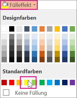 Eine Hervorhebungsfarbe auswählen