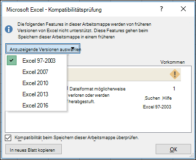Kompatibilitätsprobleme bei Formeln in Excel - Excel