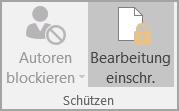 Optionen für den Dokumentschutz