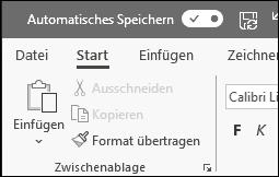 """Umschaltfläche """"AutoSpeichern"""" in Office"""