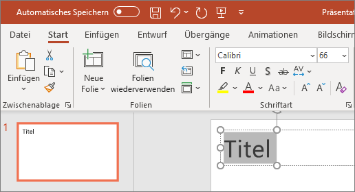 PowerPoint – Text formatieren