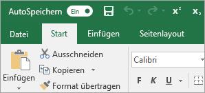"""Symbolleiste für den Schnellzugriff mit den Befehlen """"Hochgestellt"""" und """"Tiefgestellt"""""""