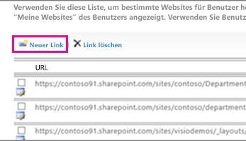 Bildschirmgrafik Option vertrauenswürdige Sites konfigurieren