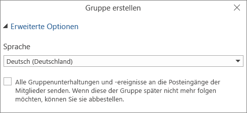 Gruppen-E-Mails an Benutzerposteingang senden