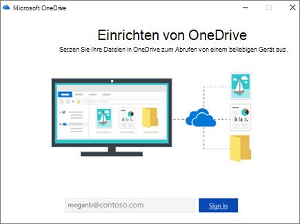 OneDrive-Setupbildschirm