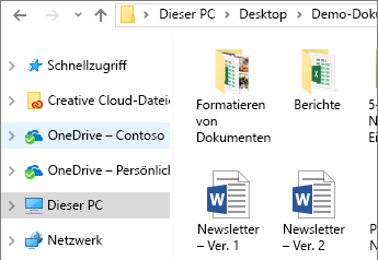OneDrive for Business im Datei-Explorer