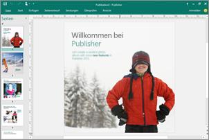 Mithilfe von Publisher können Sie professionelle Newsletter, Broschüren und weitere Publikationen erstellen.