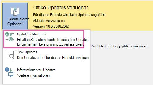 """Klicken Sie auf """"Updates aktivieren""""."""