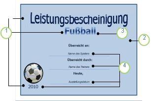 Vorlage 'Fußball'