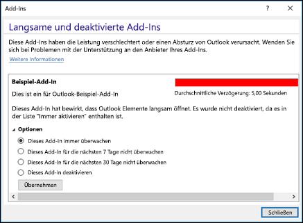 Deaktivieren von Outlook-Add-ins