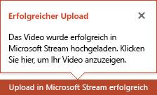 PowerPoint benachrichtigt Sie, wenn der Upload abgeschlossen ist