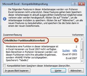 Verwenden von Excel mit früheren Versionen von Excel - Excel