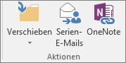 """Die Schaltfläche """"Seriendruck"""" befindet sich auf der Registerkarte """"Start"""" in der Gruppe """"Aktionen""""."""