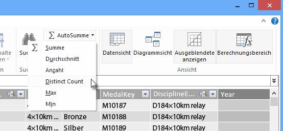 Eine eindeutige Anzahl (Distinct Count) in PowerPivot erstellen
