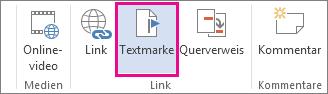 Textmarke einfügen