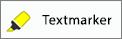 """Zeigt die Schaltfläche """"Textmarker"""" auf der Registerkarte """"Zeichnen"""" in Word für iPhone."""