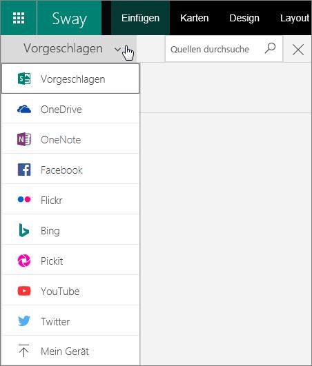 """Screenshot des erweiterten Menüs """"Quellen durchsuchen"""""""