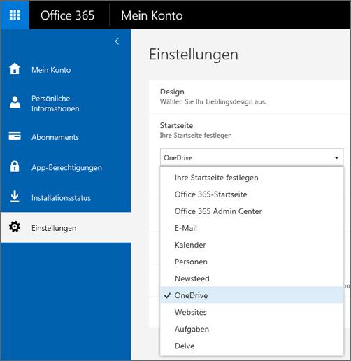 Ändern der Office 365-Startseite