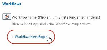 Link 'Workflow hinzufügen'