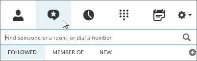 """Registerkarte """"Chatrooms"""""""