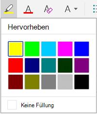 Hervorhebungsfarben