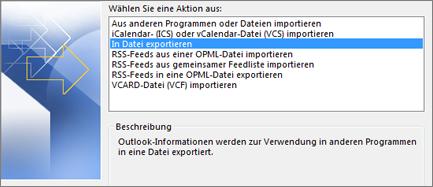 Datei exportieren