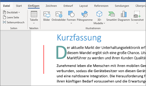 Office 365 Word – Bilder – SmartArt-Diagramme