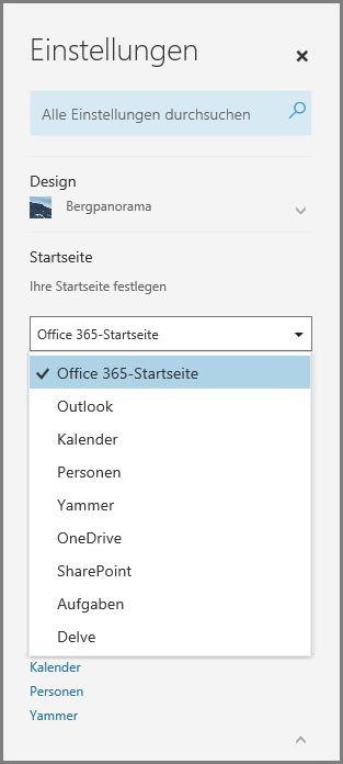 Ändern Ihrer Office 365-Startseite