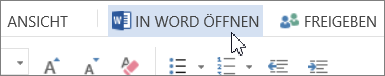 Schaltfläche 'In Word öffnen'