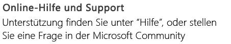 """""""Online-Hilfe und Support"""" für PowerPoint auf einem Android-Smartphone"""