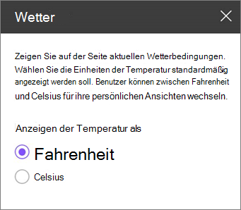 Wetter Toolbereich