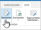 """Registerkarte """"Seite"""" mit hervorgehobener Schaltfläche """"Bearbeiten"""""""