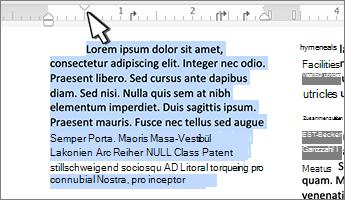 Erste Zeile für Mac-Marker