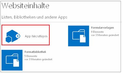 Schaltfläche 'App hinzufügen' auf der Seite 'Freigegebene Apps'