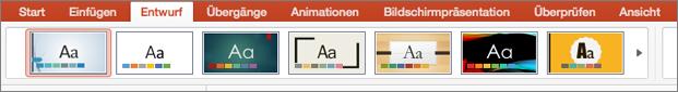 """PowerPoint für Mac, """"Designs"""""""