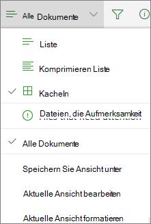 Office365 – Ansicht der Dokumentbibliothek ändern