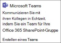 Erstellen eines Microsoft-Teams