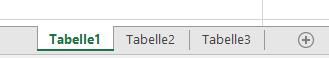 Excel-Arbeitsblattregister am unteren Rand des Excel-Fensters